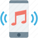 cell phone, mobile, mobile music, multimedia, music icon