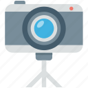 camera, digital camera, photography, picture, tripod camera icon