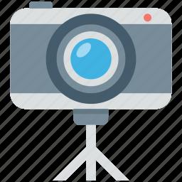 camera, digital camera, photography, picture, tripod camera icon