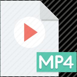 media file, movie, mp4, mp4 file, video file icon