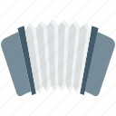 accordion, concertina, entertainment, harmonica hand, piano accordion icon