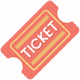 entry pass, museum ticket, pass, theater ticket, ticket icon