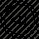 directional, arrow, back, reverse