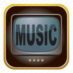 music, screen, television, tv icon