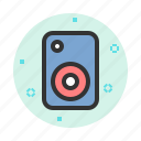 audio, loudspeaker, music, sound, speaker icon