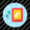earphone, music, sound, tablet
