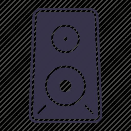 audio, box, media, multimedia, music, play, player, sound, speaker, stereo, volume icon