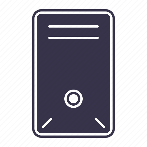 case, computer, device, hardware, laptop, pc, personal, technology, tower icon