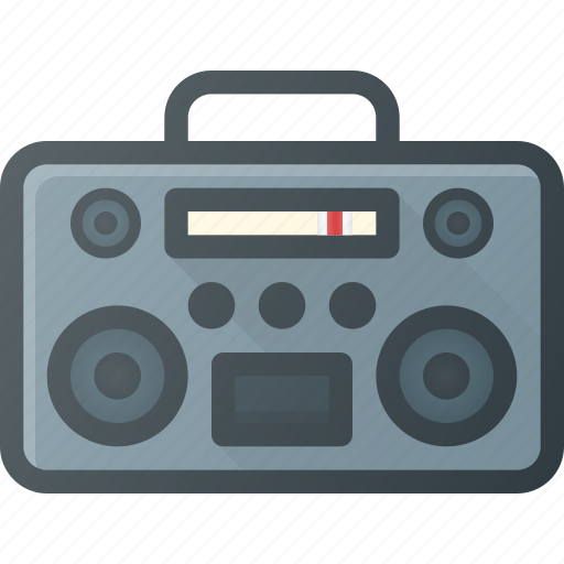 casette, music, player, retro icon