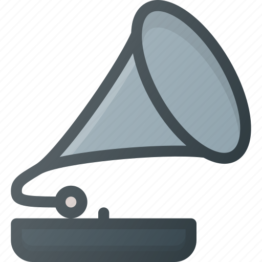 gramophone, music, old, player, vintage icon