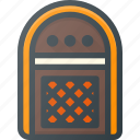 bar, box, juke, music, player, retro icon