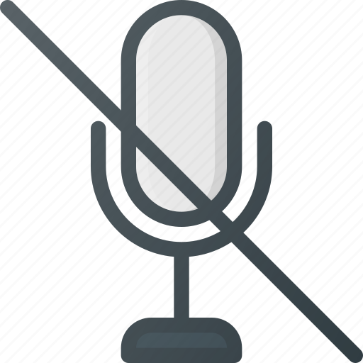 disable, mic, microphone, mute, sound icon