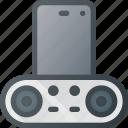 dock, plug, smartphone, sound