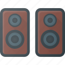 audio, music, sound, speaker, stereo, volume icon