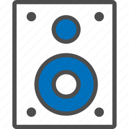 instrument, loudspeakers, media, music, sound, speaker, woofer icon