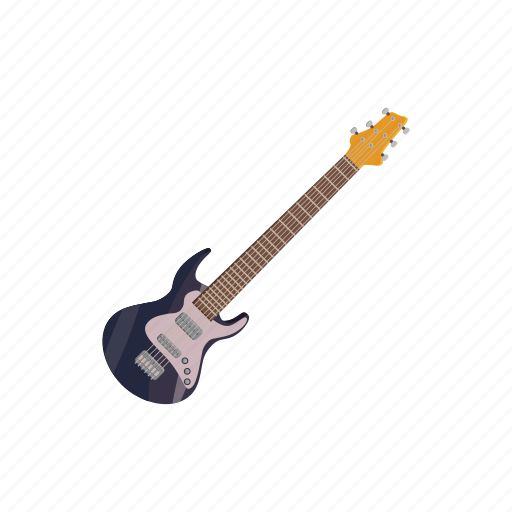 band, cartoon, electric, guitar, instrument, music, string icon