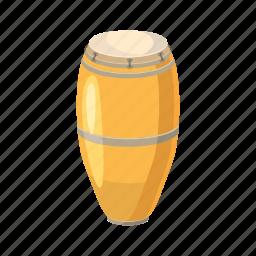 cartoon, drum, ethnic, instrument, music, percussion, rhythm icon