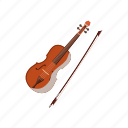 cartoon, classical, instrument, music, musical, string, violin icon
