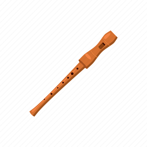 cartoon, classical, flute, instrument, music, sound, woodwind icon