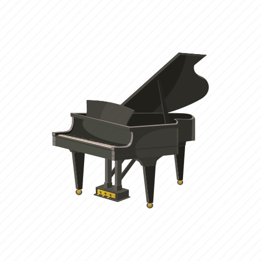 cartoon, classical, grand, instrument, music, piano, sound icon