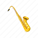 cartoon, instrument, isometric, jazz, music, musical, saxophone icon