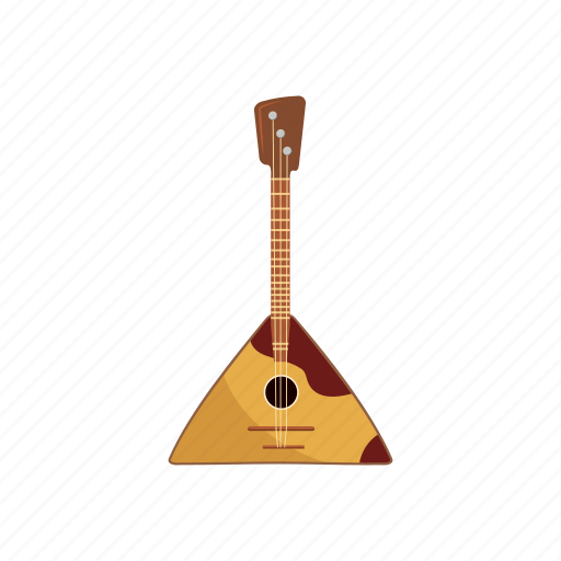 balalaika, cartoon, music, musical, retro, string, traditional icon