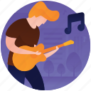 guitar player, guitarist, male playing guitar, musician, playing guitar icon