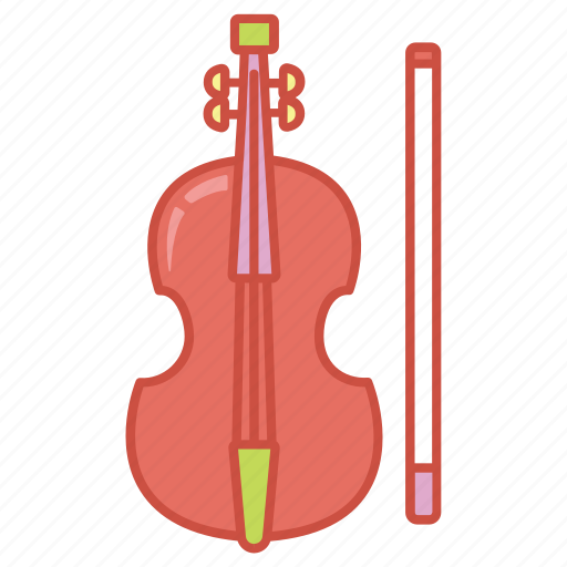 bow, fiddle, instrument, music, musical, string, violin icon