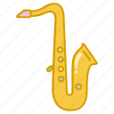 brass, instrument, jazz, music, musical, sax, saxophone icon
