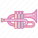 brass, flugelhorn, horn, instrument, music, musical, trumpet icon
