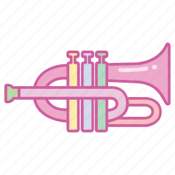 brass, flugelhorn, horn, instrument, music, musical, trumpet icon
