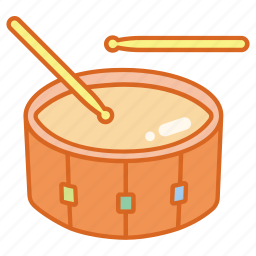 drum, instrument, military, music, musical, parade, percussion icon