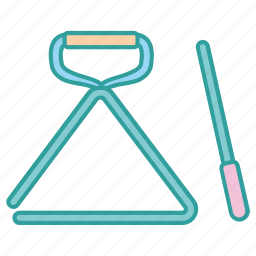 beater, instrument, music, musical, percussion, triangle, wand icon