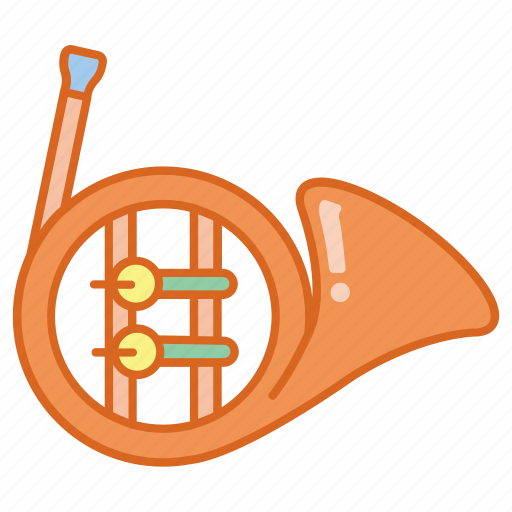 brass, french, german, horn, instrument, musical icon