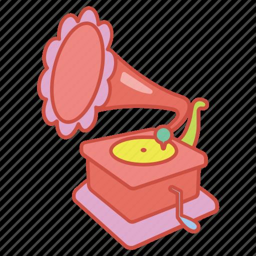 gramophone, music, phonograph, record, records, turntable, vinyl icon