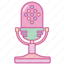 announcer, interview, mic, microphone, radio, singer, song icon