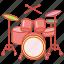 drum, drumkit, instrument, kit, music, musical, set icon