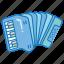 accordion, bayan, harmonica, instrument, music, musical, piano icon