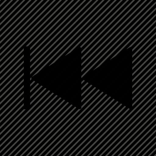 music controls, rewind icon