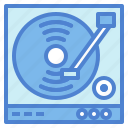 dj, music, turntable, vinyl icon