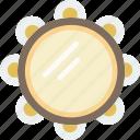 audio, gypsy, instrument, music, sound, tambourine, volume icon