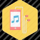 earphone, listening, mobile, music, song