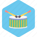 base, drum, instruments, music, song icon