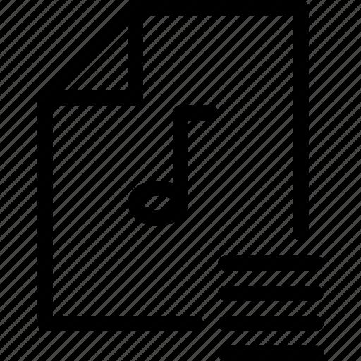 file-type, interface, list, media-player, multimedia, music, music-list icon