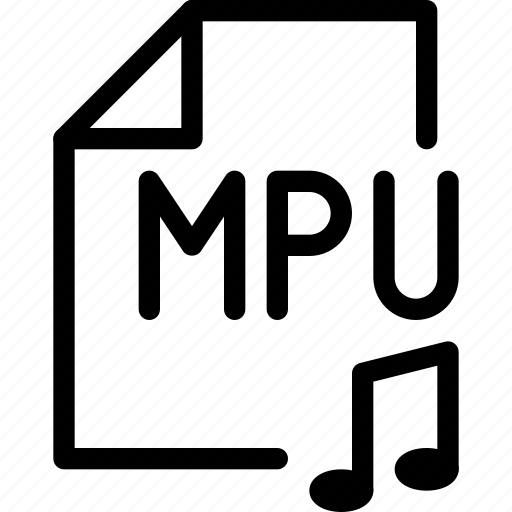 file-type, media-player, media-processing-unit, mpu-file, multimedia, music, storage icon