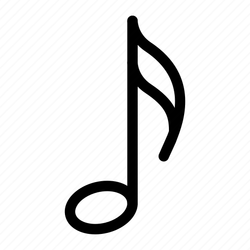 eighth-note, instrument, media-player, multimedia, music-note, note, quaver icon