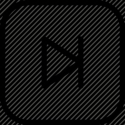 forward, media-controls, media-player, multimedia, music, next, next-button icon