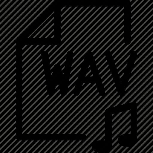 audio, media-player, multimedia, music, storage, wav, waveform-audio-file-format icon