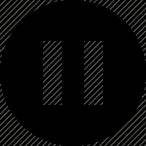 multimedia, music, pause, stop icon