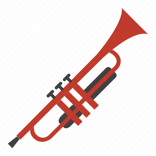 entertainment, instrument, music, rhythm, song, trumpet, wind instruments icon